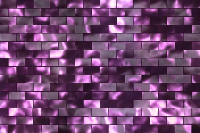 růžová stěna